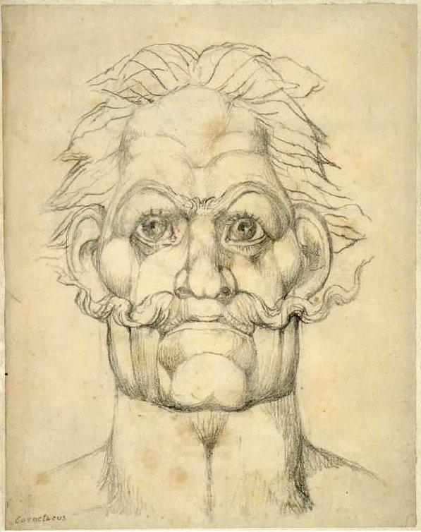 Caractacus volgens William Blake. Bron: Wikipedia