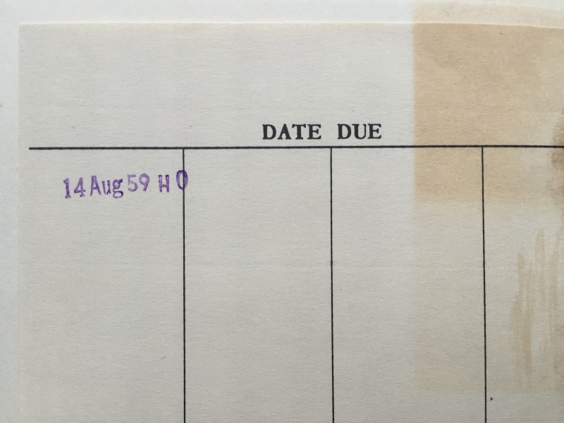 Due Date 14 aug. 1959