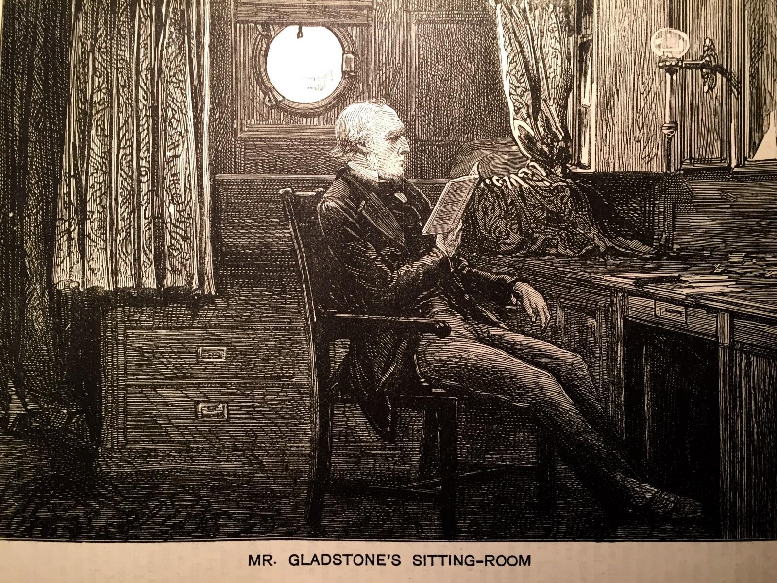 Prime Minister Gladstone in his cabin