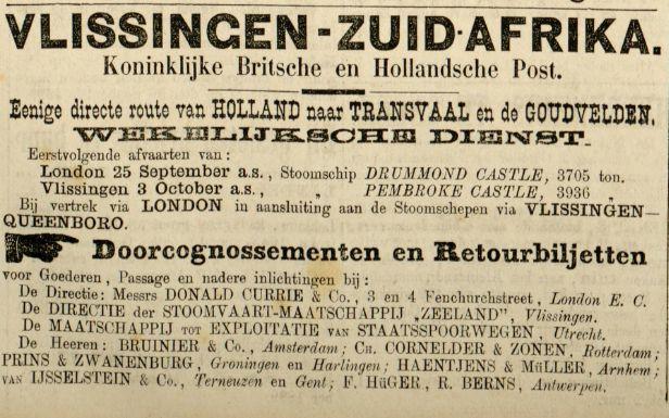 Advertentie Leeuwarder Courant 20 september 1889